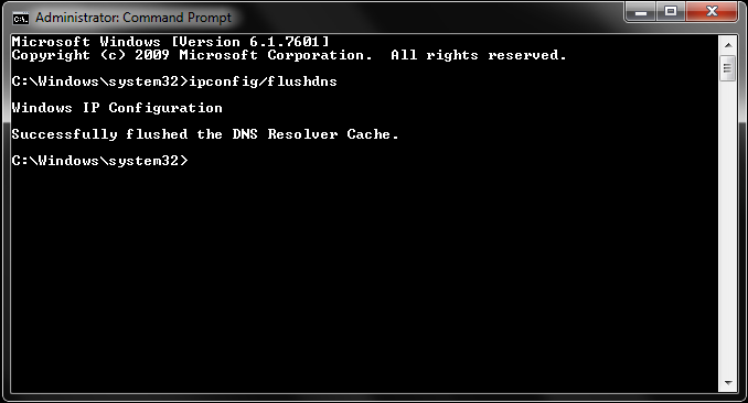 How to flush DNS cache (ipconfig) in windows?